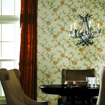 Mirage Signature V Jacobean Scroll Wallpaper in Pale Yellow