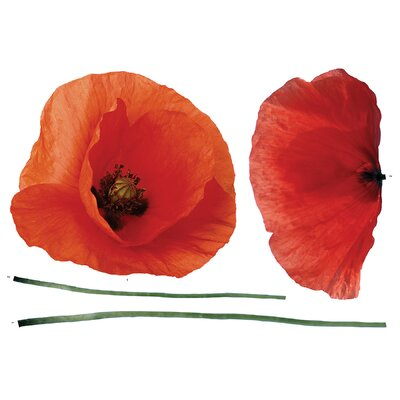 Brewster Home Fashions Euro Poppies Wall Decal