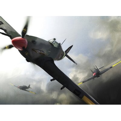 Brewster Home Fashions Ultimate Retro Warbirds Wall Mural