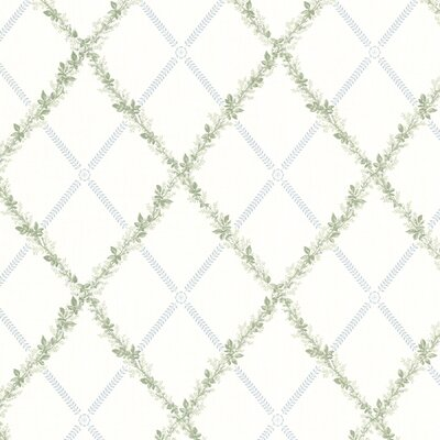 Brewster Home Fashions La Belle Maison Heirloom Harlequin Trellis Wallpaper