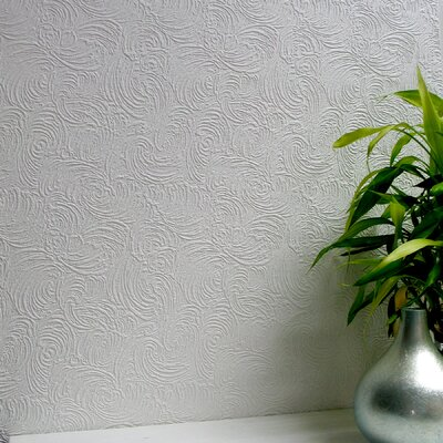 Brewster Home Fashions Anaglypta Paintable Ranworth Abstract Embossed Wallpaper