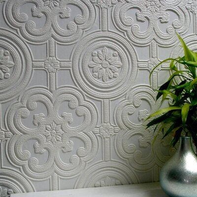 Brewster Home Fashions Anaglypta Paintable Egon Textured Wallpaper