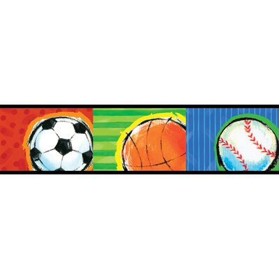 Brewster Home Fashions Kids World All Star Multicolor Sports Wallpaper