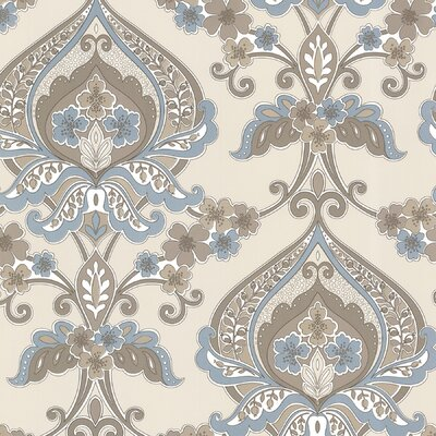 Zinc Ashbury Paisley Damask Wallpaper