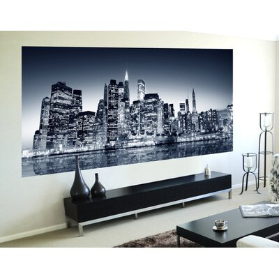Euro Night View Panoramic Wall Decals