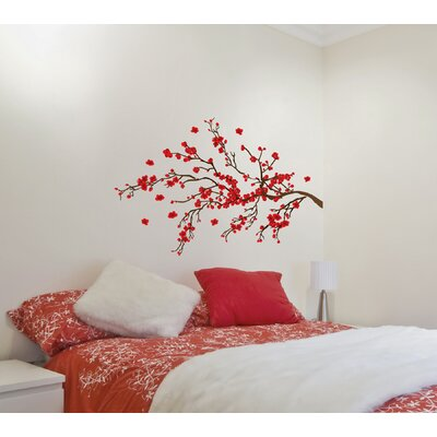 Euro Red Branch Wall Decals