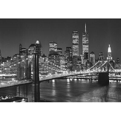 Brewster home fashions ideal decor brooklyn bridge wall for Brooklyn bridge wall mural
