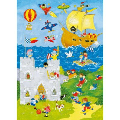 Ideal Decor It's A Boys World Wall Mural