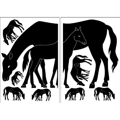 Brewster Home Fashions Euro Mare and Foal Wall Decal