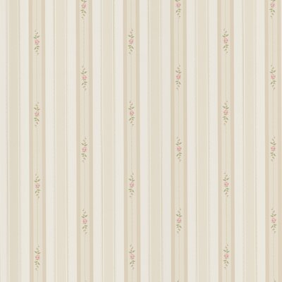 Brewster Home Fashions Dollhouse Belle Rose Stripe Wallpaper