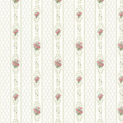 Brewster Home Fashions Dollhouse Jaynie Trellis Stripe Wallpaper