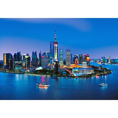 Brewster Home Fashions Ideal Décor Shanghai Skyline Wall Mural