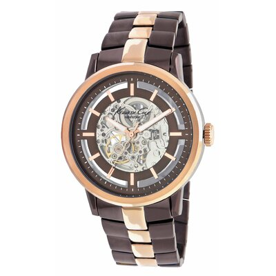Kenneth Cole Men's Round Bracelets Watch in Brown and Rose Gold