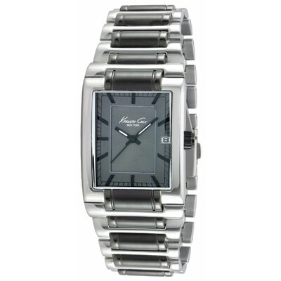 Kenneth Cole Men's Classics Rectangular Bracelets Watch in Gunmetal