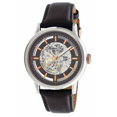 Kenneth Cole Men's Straps Automatics Watch in Brown and Rose Gold