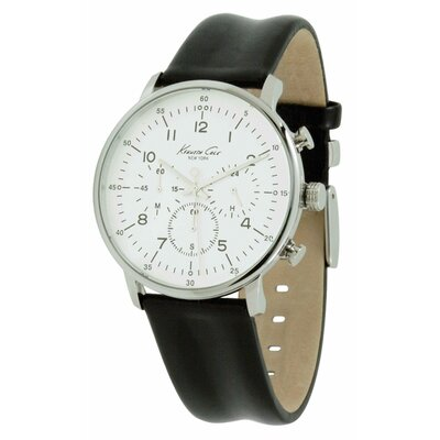Men's Straps Dress Sport Watch in Silver White and Black