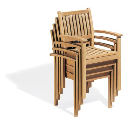 Oxford Garden Warwick Stacking Dining Arm Chairs