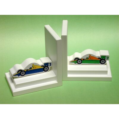 One World Formula One Bookends with White Base