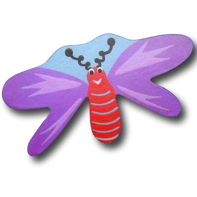 Dragonfly Drawer Knob in Purple / Blue Back