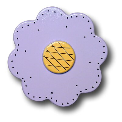 Lollipop Flower Drawer Knob in Pastel Purple