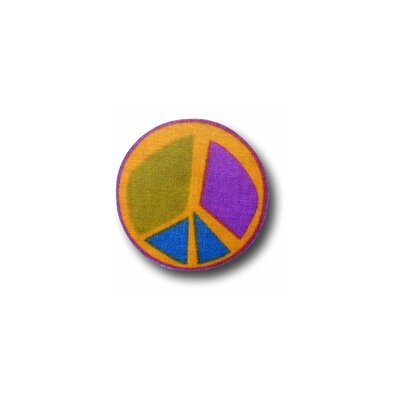 Peace Purple 2 Drawer Knob