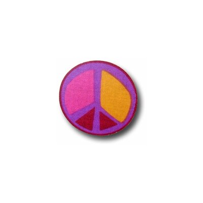 Peace Purple 6 Drawer Knob