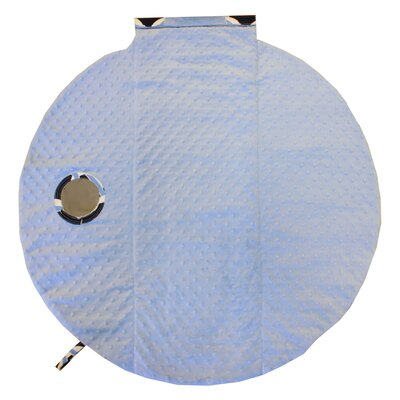 Itzy Ritzy Social Circle Blue Wrap and Roll Infant Carrier Arm Pad and Tummy Time Mat