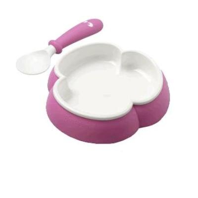 BabyBjorn Plate and Spoon Set in Pink