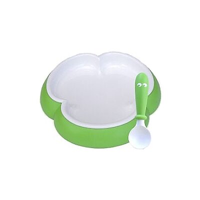 BabyBjorn Spring Green Plate and Spoon Set