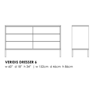 Elemental Living Veridis 6 Drawer Dresser