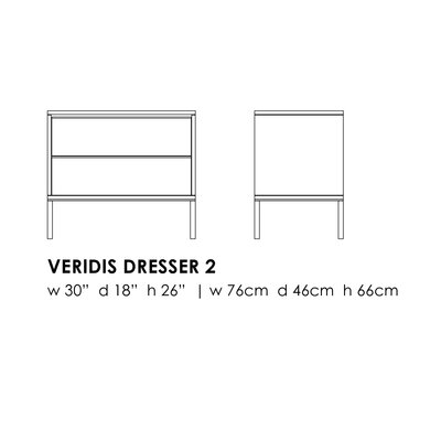 Elemental Living Veridis 2 Drawer Dresser