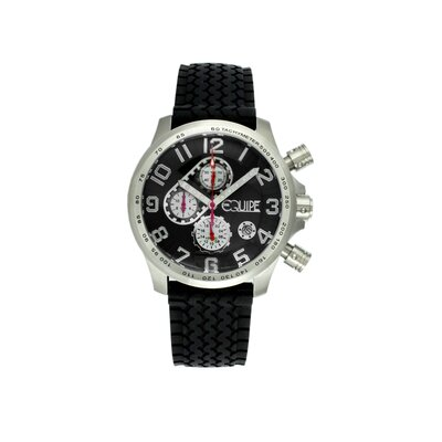 Equipe Hemi Men's Watch with Black Rubber Band and Black Dial