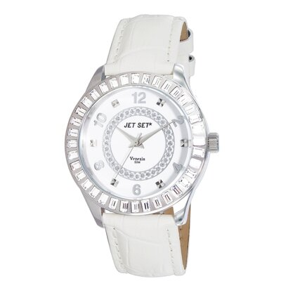Jet Set Venezia Ladies Watch with Silver Case and Crystal Bezel