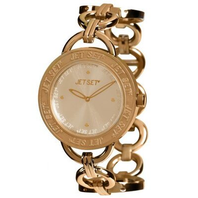 Jet Set Beverly Hills Round-Shaped Case Ladies Watch in Rose Gold