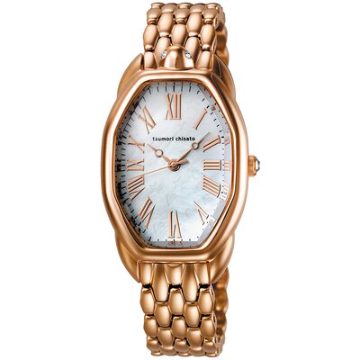 Turtle Ladies Watch with Rose Gold Metal Band