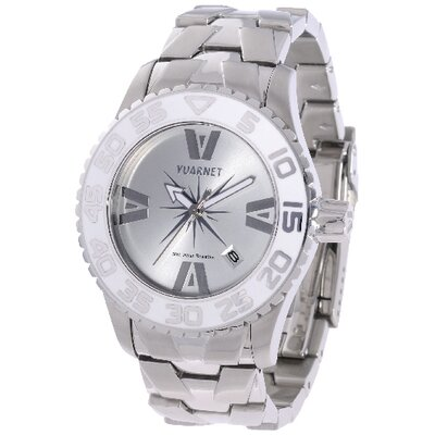 Vuarnet H2O Lady Ladies Watch with Silver Band and White Bezel