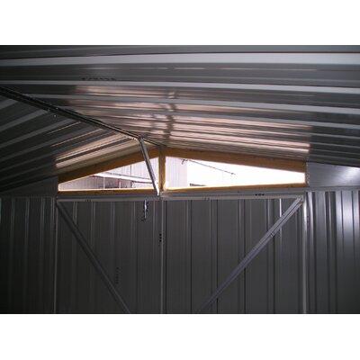 "Absco DayLite 9'10"" W x 9'9"" D Steel Garden Shed"