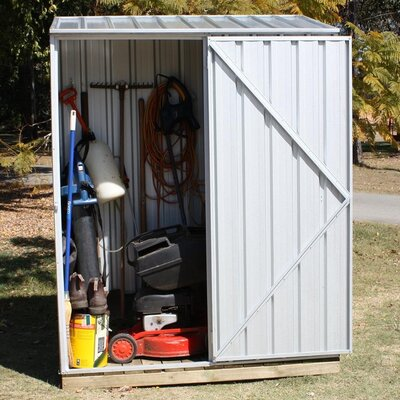 "Absco Spacesaver 5' W x 2'7"" D Steel Tool Shed"
