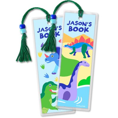 Olive Kids Dinosaur Land Personalized Bookmark