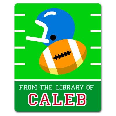 Olive Kids Game On Football Personalized Kids Book Plate (Set of 18)