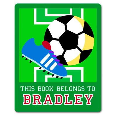 Olive Kids Game On Soccer Personalized Kids Book Plate