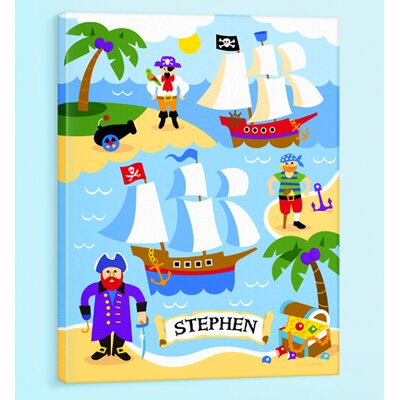 Pirates Personalized Canvas Art
