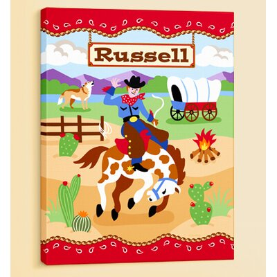 Ride 'em Personalized Canvas Art