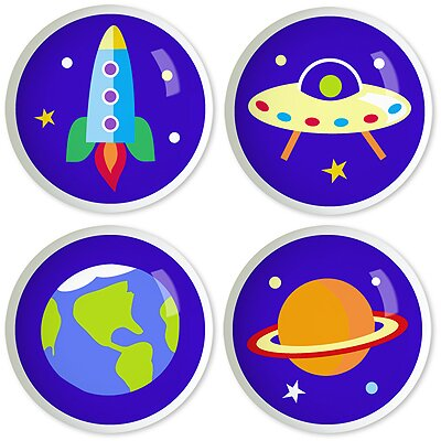 Olive Kids Out of This World Knob Set (Set of 4)