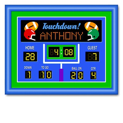 Game On Football Large Personalized Framed Art