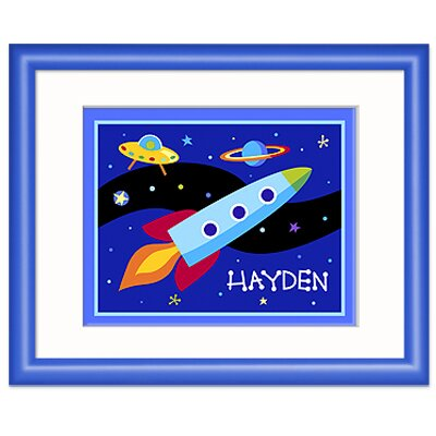 Olive Kids Out of This World Personalized Framed Print