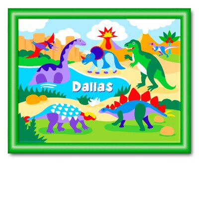 Dinosaur Land Personalized Large Print