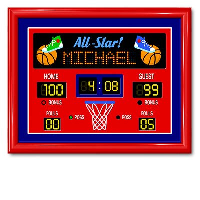 Game On Large Basketball Personalized Print