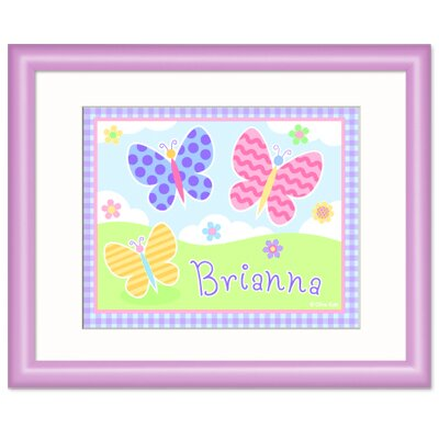 Olive Kids Butterfly Garden Personalized Print