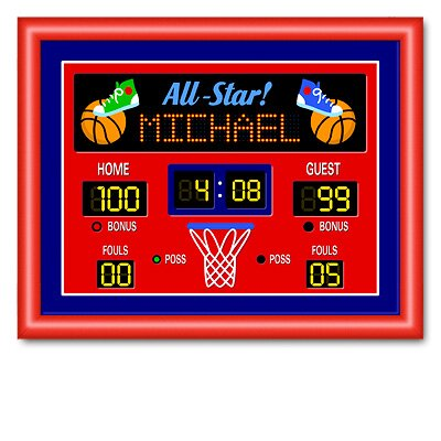 Game On Basketball Large Personalized Print